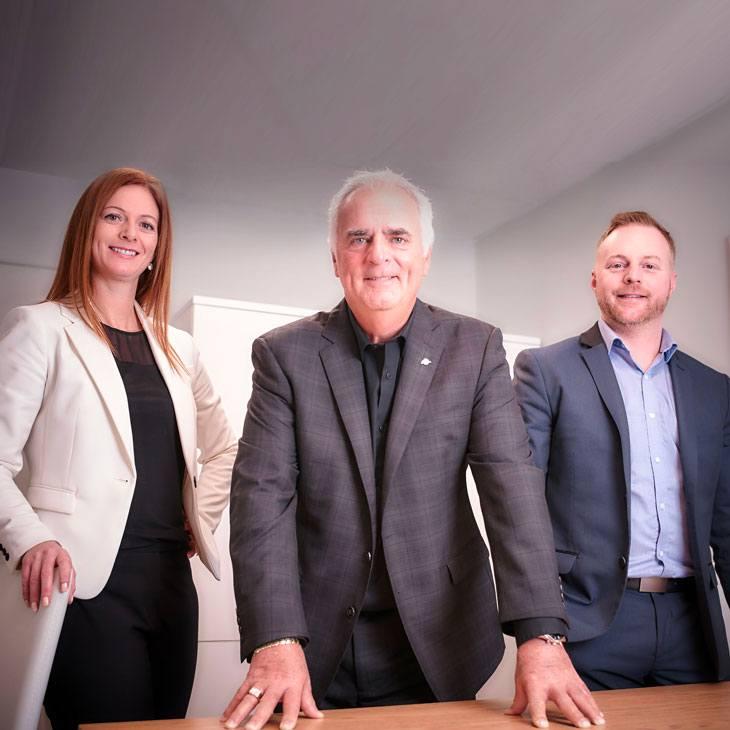 Tina, Richard et Danny Lamontagne, les actionnaires de Chocolat Lamontagne