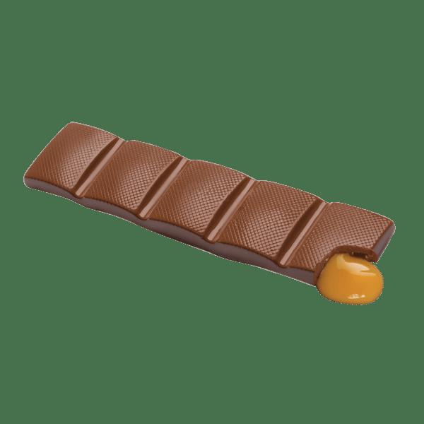 single milk chocolate caramel bar