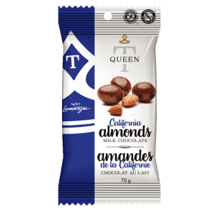 milk chocolate coated almonds