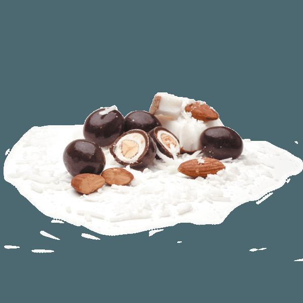 Dark coconut almonds