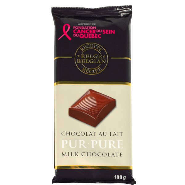 european style Belgian recipe milk chocolate bar