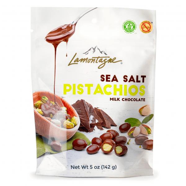 Sea salt milk chocolate pistachios