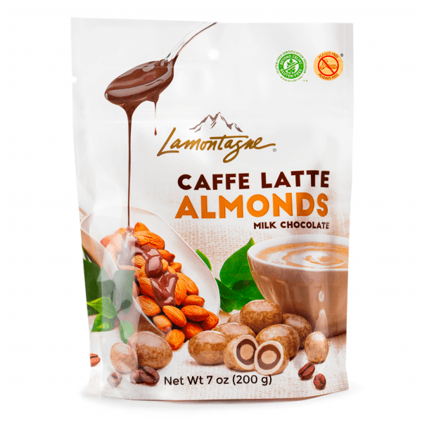 caffe latte almonds