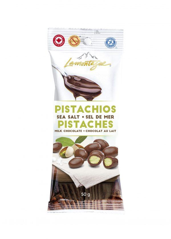 Sea salt milk chocolate pistachios