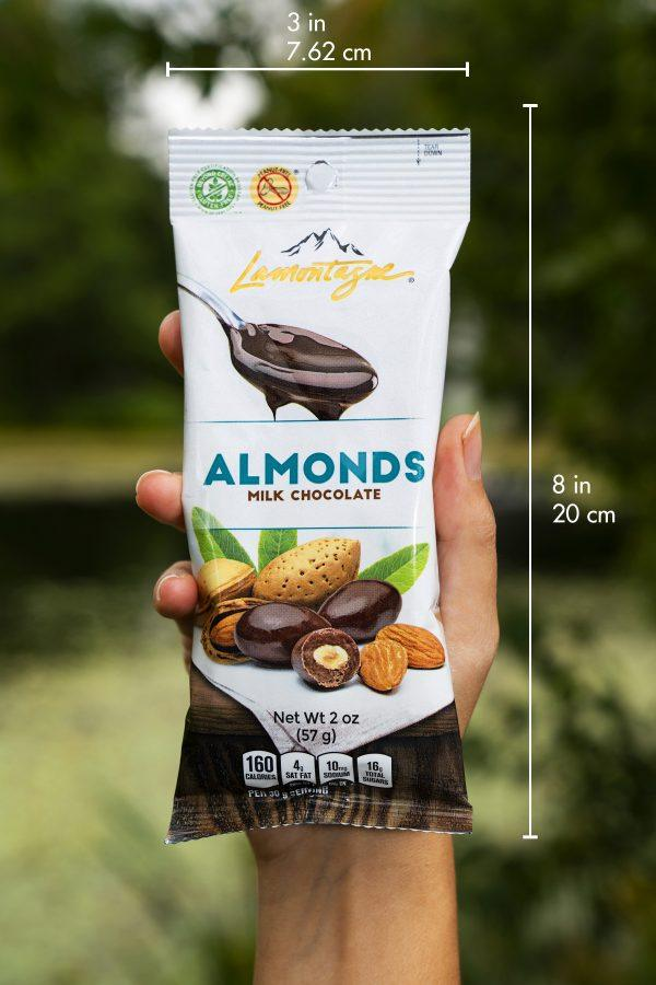 milk chocolate coated almonds individual size