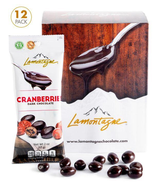 Dark Chocolate Cranberries - pack of 12