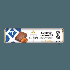 Milk chocolate almonds bar - Queen T