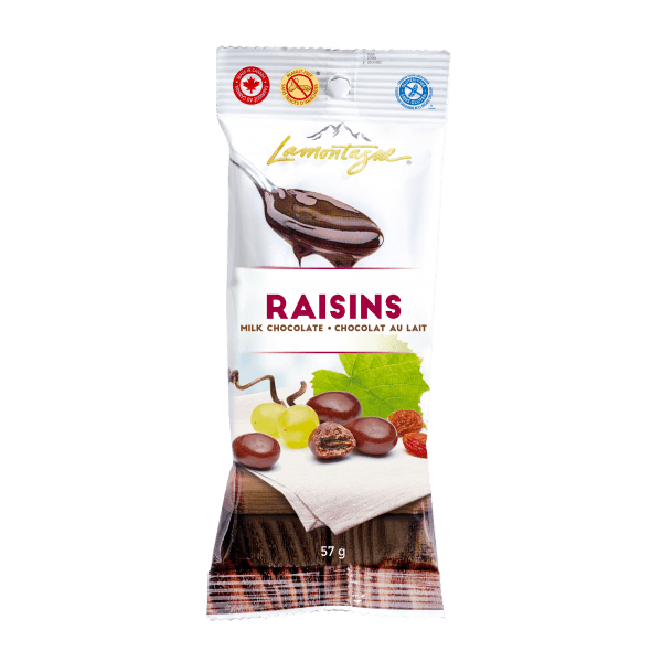 milk chocolate raisins - grab & go