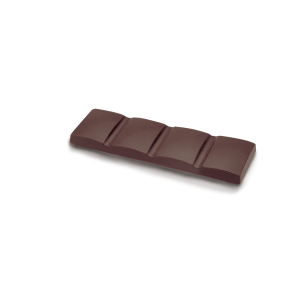 Barre simple, version courte, chocolat noir