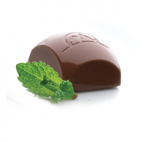 Bouchées de chocolat avec saveur de menthe