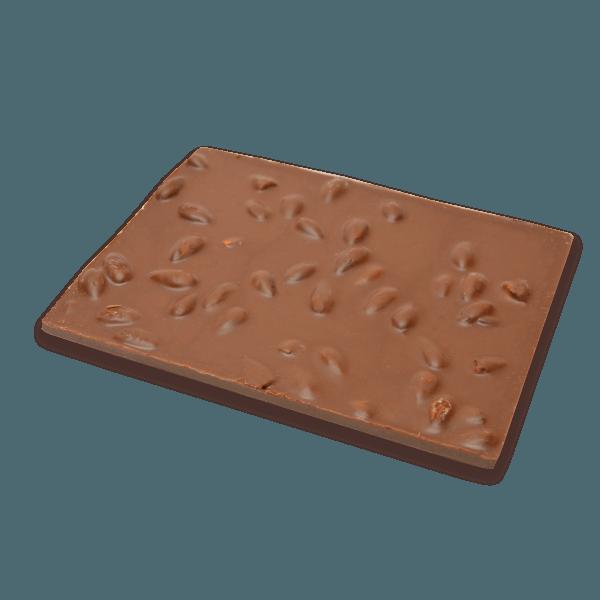 milk chocolate and almonds bark