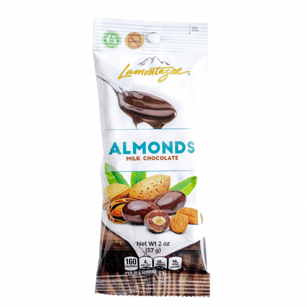 milk chocolate coated almonds