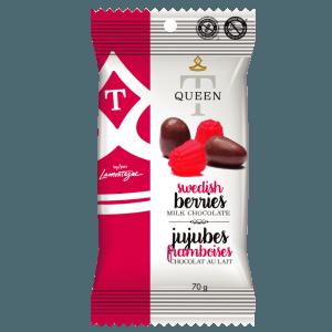 Swedish berries coated in milk chocolate - Queen T